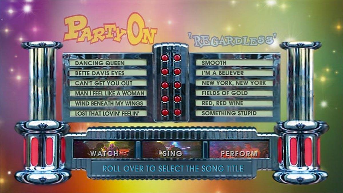 JUKEBOX 'Party On' Sing It Menu