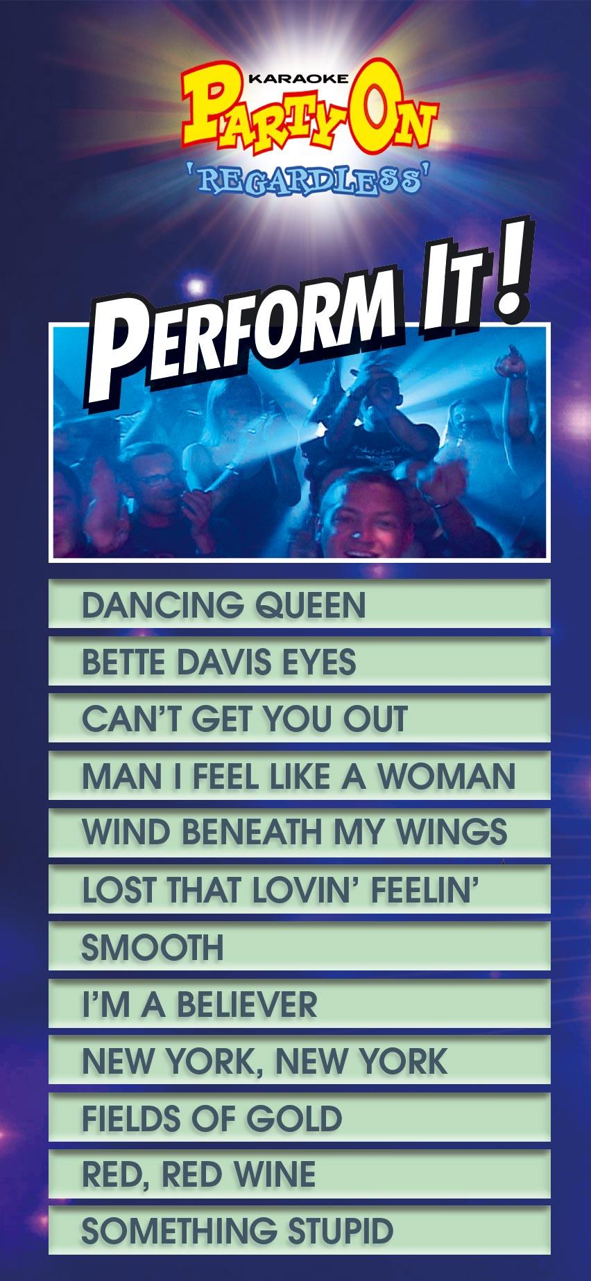 JUKEBOX - Perform It Song List