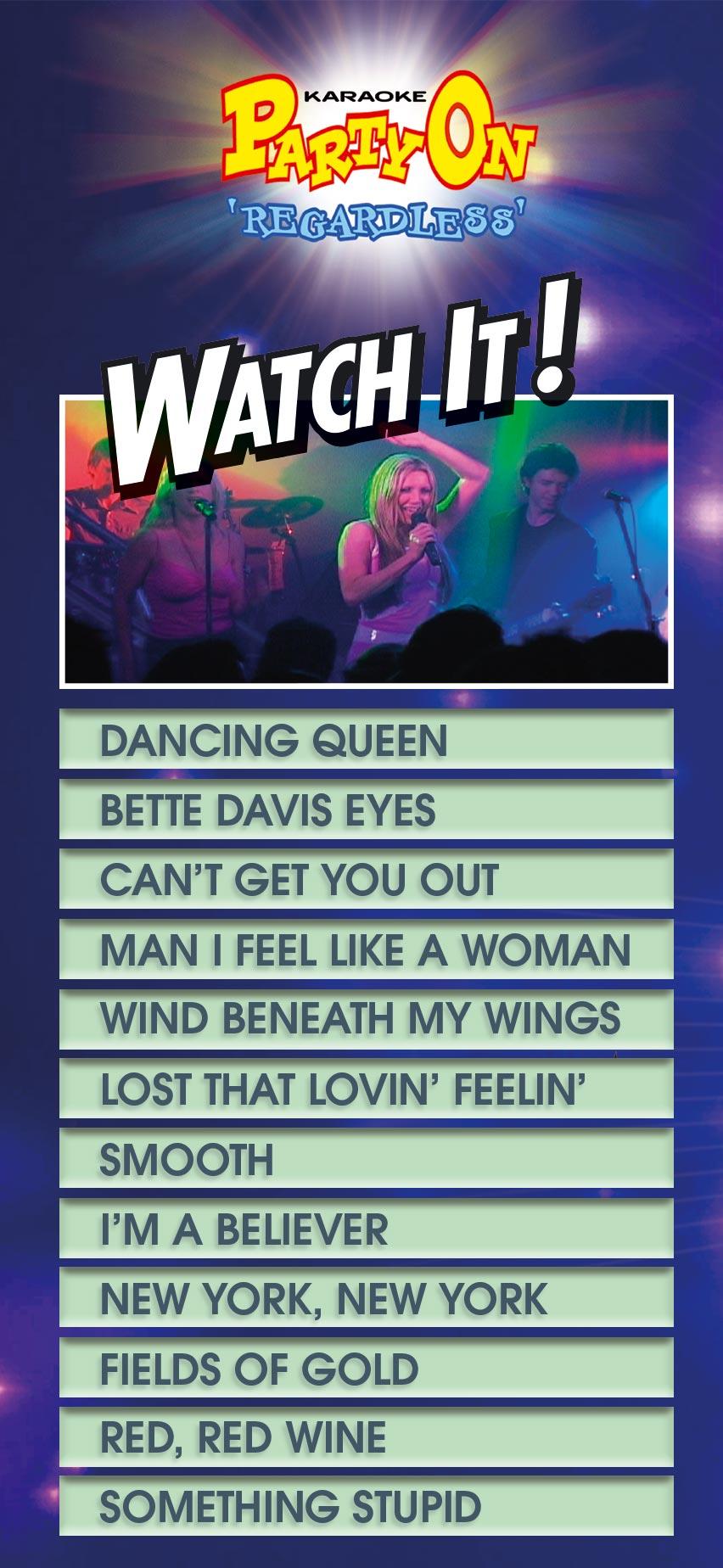 JUKEBOX - Watch It Song List