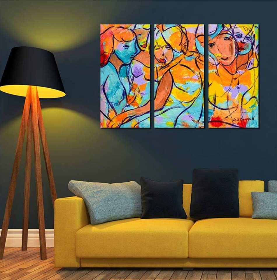 Artistic Abstract 3-Panel Painting