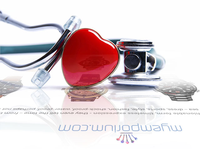 Stethoscope and heart shape lie above a website page from MyEmporium.com to represent checking a healthy website pulse