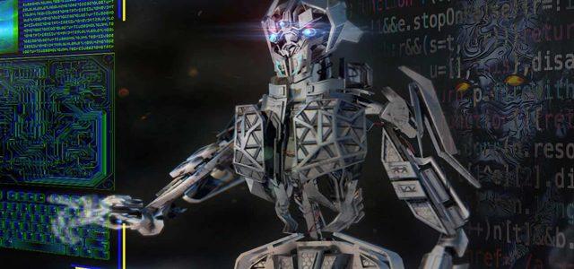 AI-Cyborg Presses Screen